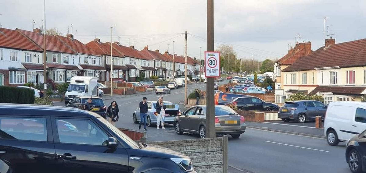 The crash happened in a residential part of Saltwells Road in Netherton. Photo by Spotted Netherton.