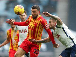 Robert Snodgrass of West Bromwich Albion and Toby Alderweireld of Tottenham Hotspur.