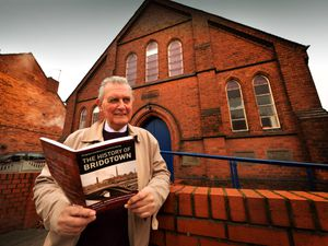 Author David Williams with the book called 'Bridgtown's Industrial Heritage'