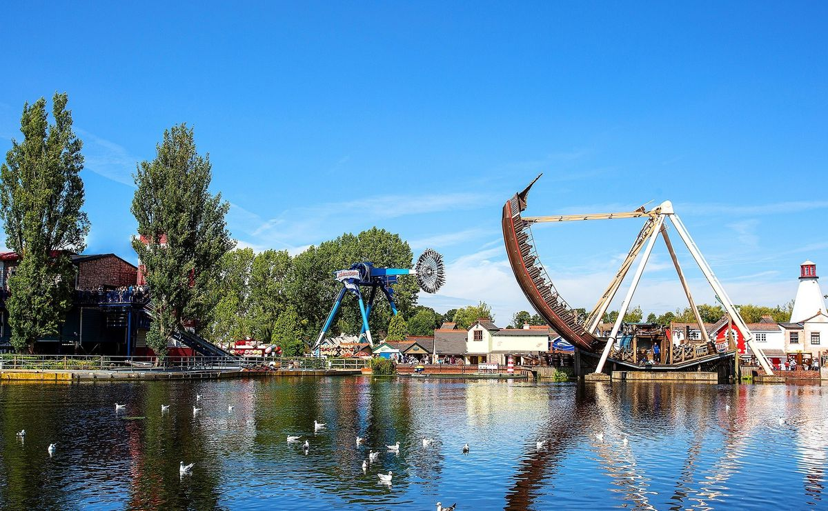 A view of Drayton Manor from the lake now in 2020
