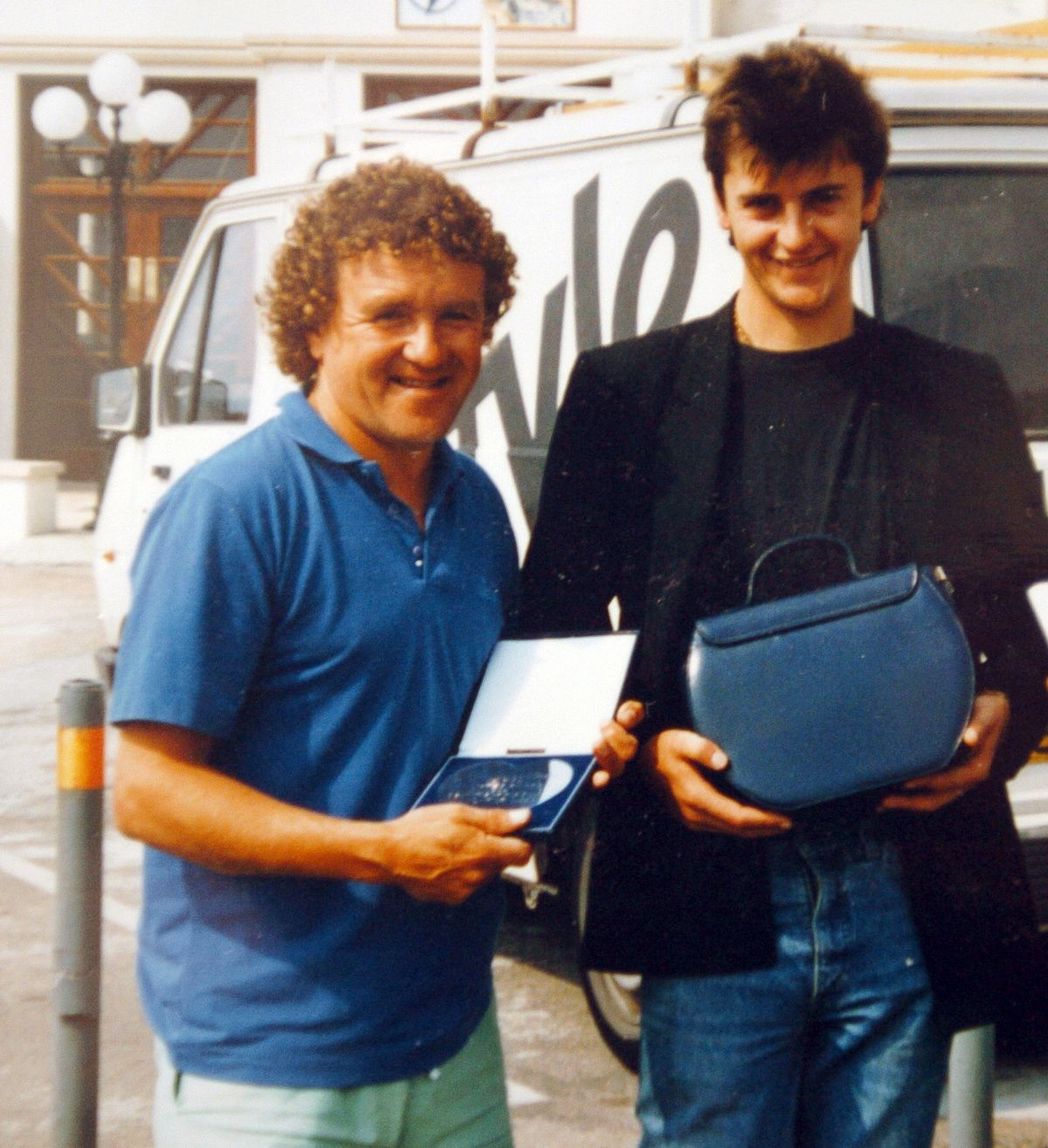 With a young Joe Pasquale in 1989