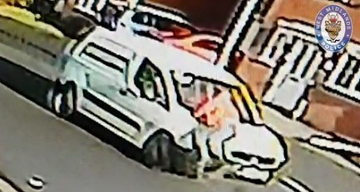 The delivery driver clung to the vehicle as it was stolen in West Bromwich