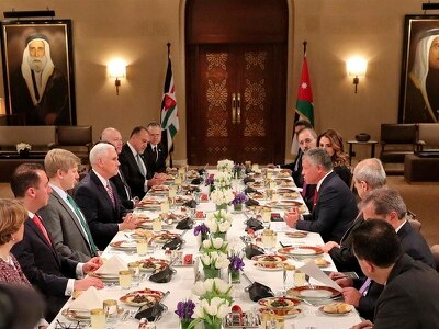 Jordan urges Pence to 'rebuild trust' after Jerusalem move