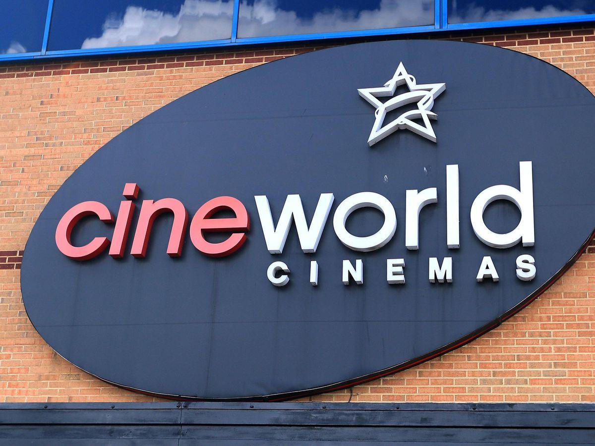 A Cineworld sign