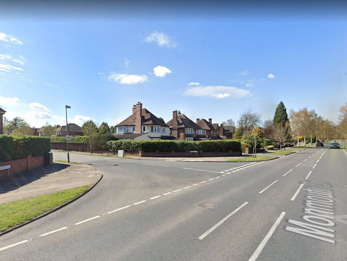 The junction of Monmouth Drive and Darnick Road, Sutton Coldfield. Photo: Google