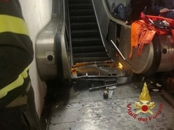 Russian football fans hurt in Rome escalator accident