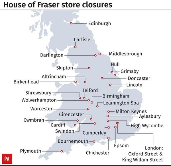 beatties set for closure as house of fraser wields axe. Black Bedroom Furniture Sets. Home Design Ideas