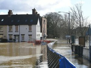 Flooding in Bewdley earlier this year
