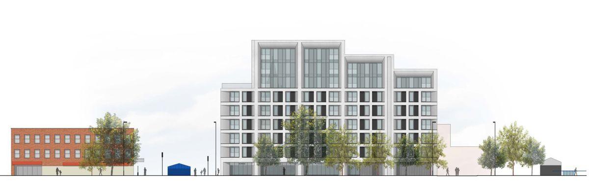 Artist's impression of proposed apartments. Photo: Zebra Architects
