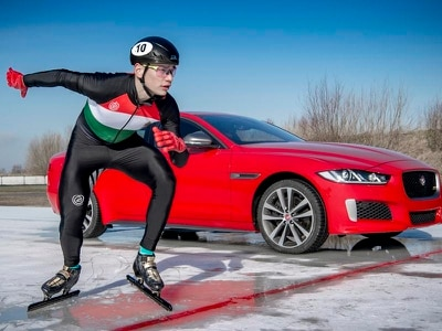 Jaguar launches 300 Sport Edition range with race victory against Olympic gold medalist