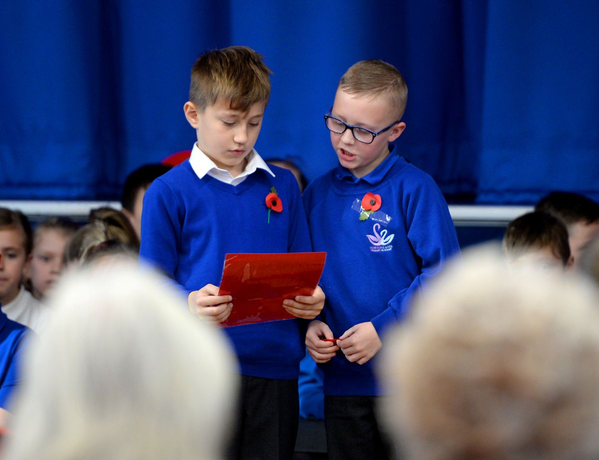 Remembrance assembly at Norton Canes Primary School