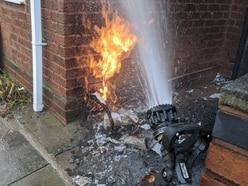 Homes evacuated after wheelie bin fire sparks gas alert