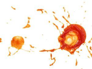 SPlashes of tomato ketchup
