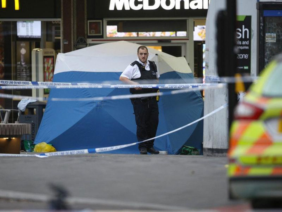 Police after a teenager was fatally stabbed outside Stratford Broadway