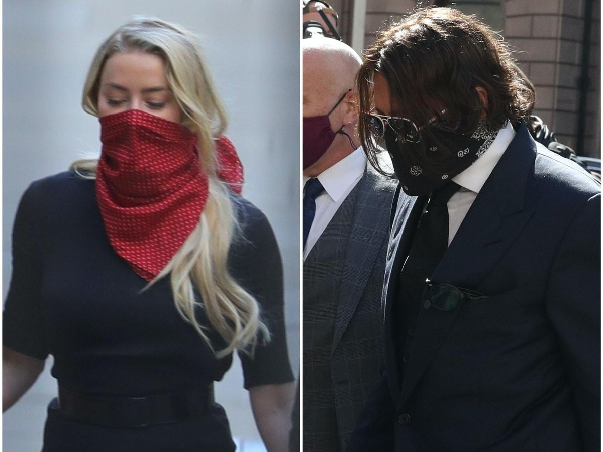 Actor Johnny Depp and his ex-wife Amber Heard arrive separately at the High Court in London for the first day of his libel case against The Sun