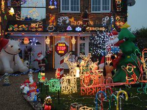 Some of the charity Christmas lights displayed at Kestrel Way, Cheslyn Hay.