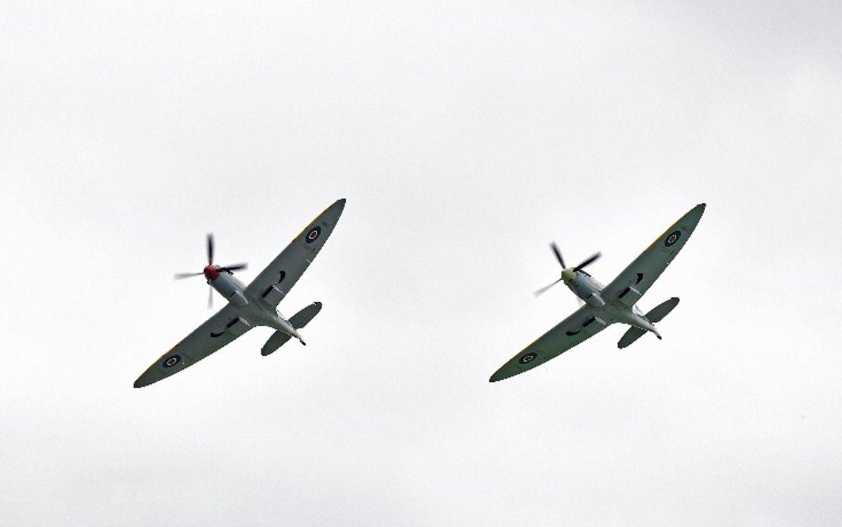 The Spitfires re-enact Karl's fatal last mission.