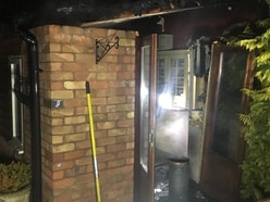 Narrow escape as elderly couple wake to find house on fire