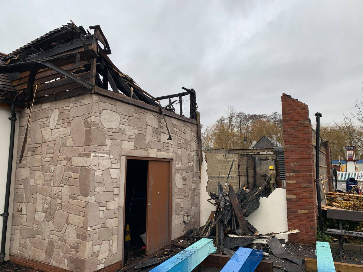 Damage at the park after the fire - photo by Drayton Manor