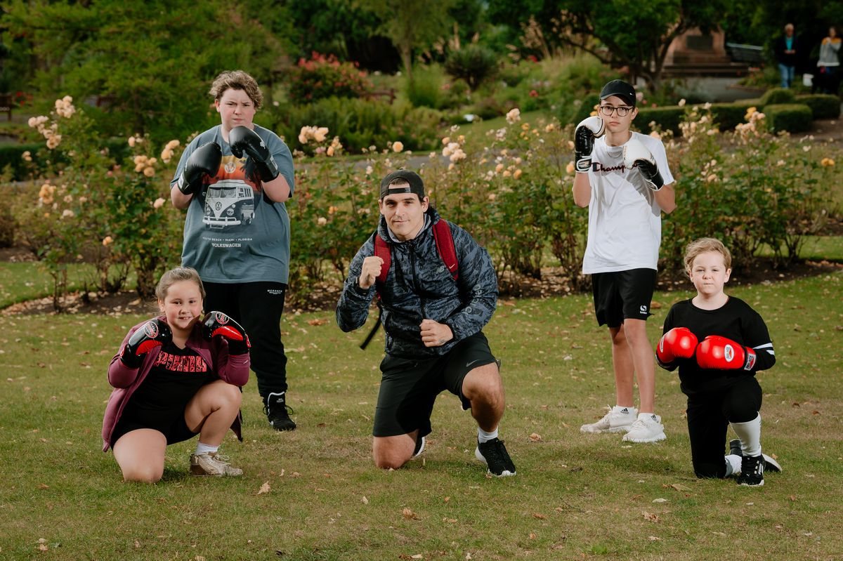 Richi Forni-Graham, Matilda Flavell, Sean Powell, Jack Moores and Daisy Russell are all members of Bridgnorth Boxing Club