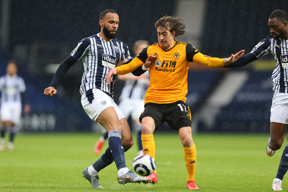 Kyle Bartley of West Bromwich Albion and Fabio Silva of Wolverhampton Wanderers. (AMA)