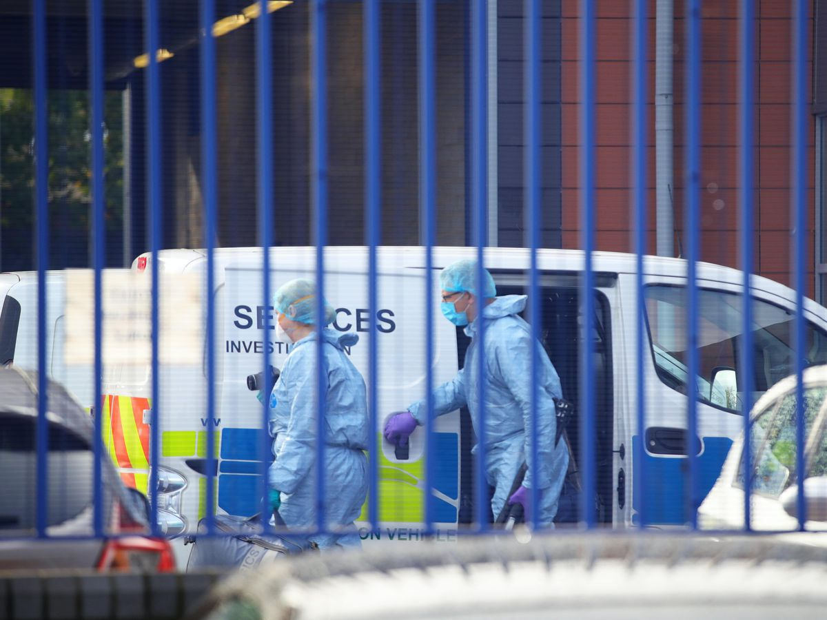 The scene at Croydon Custody Centre