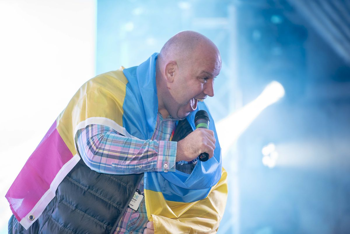 Signal 107's Dicky Dodd hosted Wolverhampton Pride 2019. Photo: Wolverhampton Today