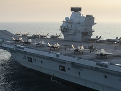 Stealth jet shown soaring off from HMS Queen Elizabeth in stunning footage
