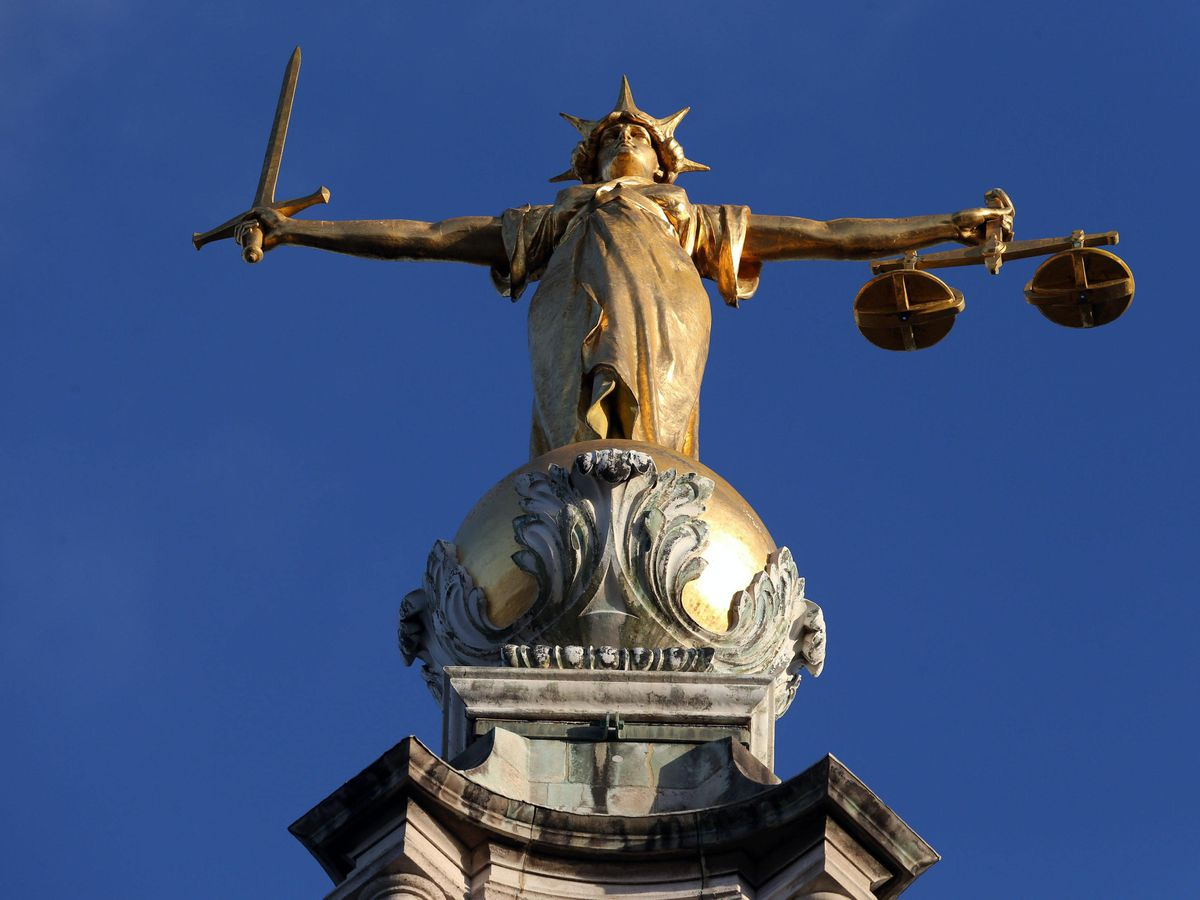 The statue of Lady Justice on top of the Old Bailey