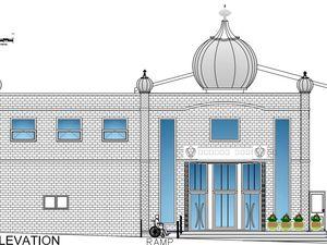Proposed extension of Gurdwara Guru Hargobind Sahib temple on Britannia Street, Oldbury. Photo: Sandwell Council