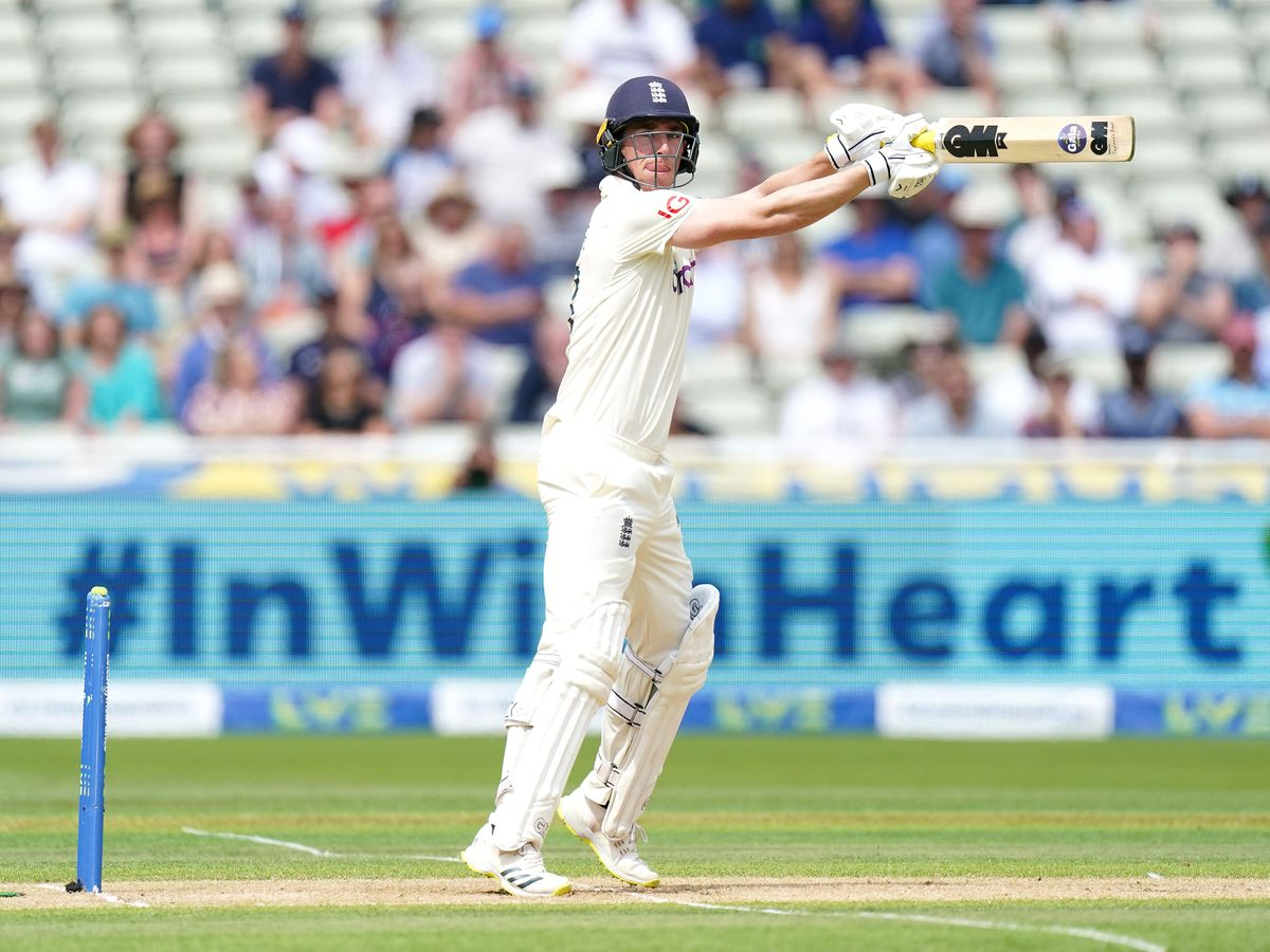Dan Lawrence was left unbeaten on 81 as England made 303 in their first innings at Edgbaston