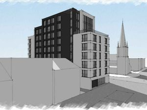 Artist's impression of proposed apartments on the site of the former Star and Garter pub in West Bromwich. Photo: Zebra Architects