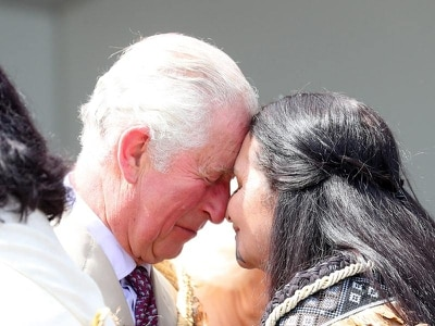In Pictures: Royal couple enjoy traditional greetings at tribal meeting ground