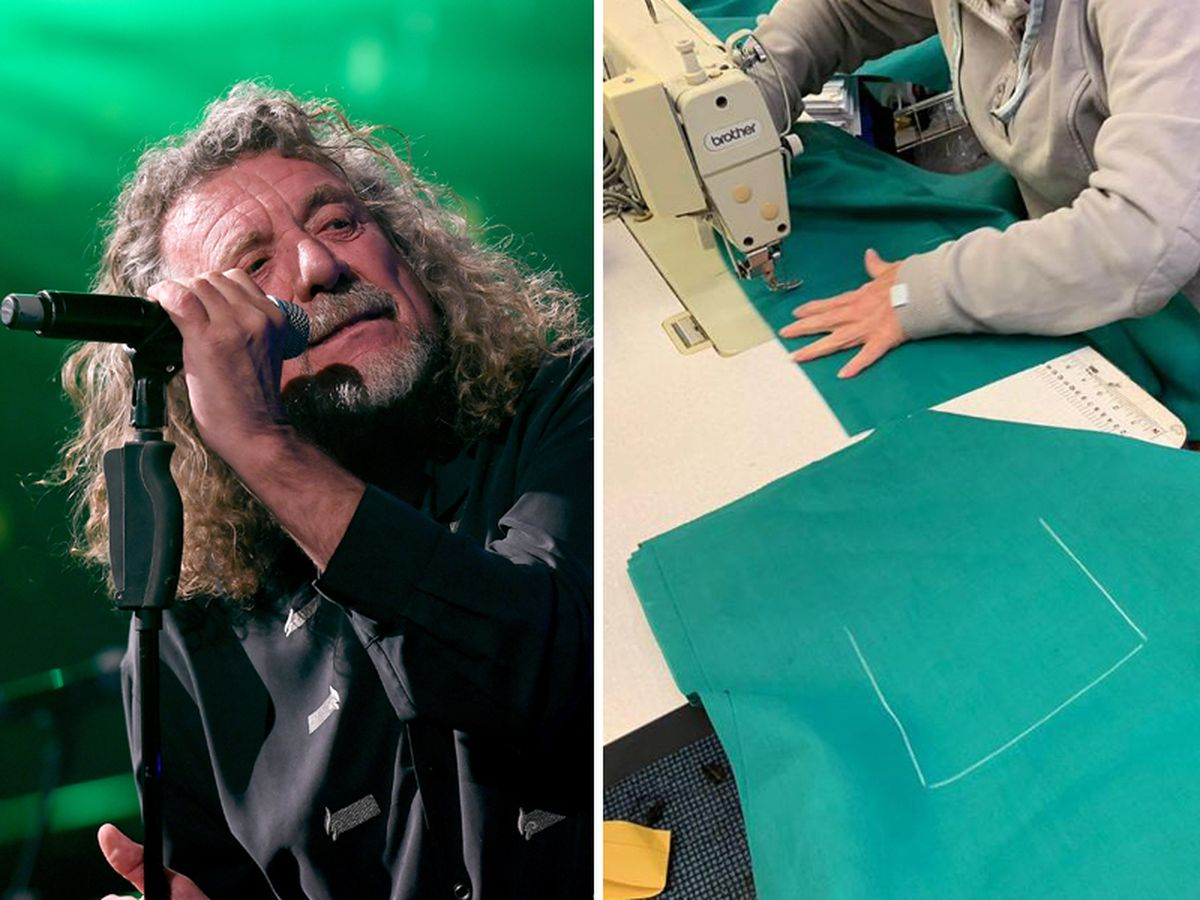 MG Sportswear has received more than 100 donations including from Robert Plant, left