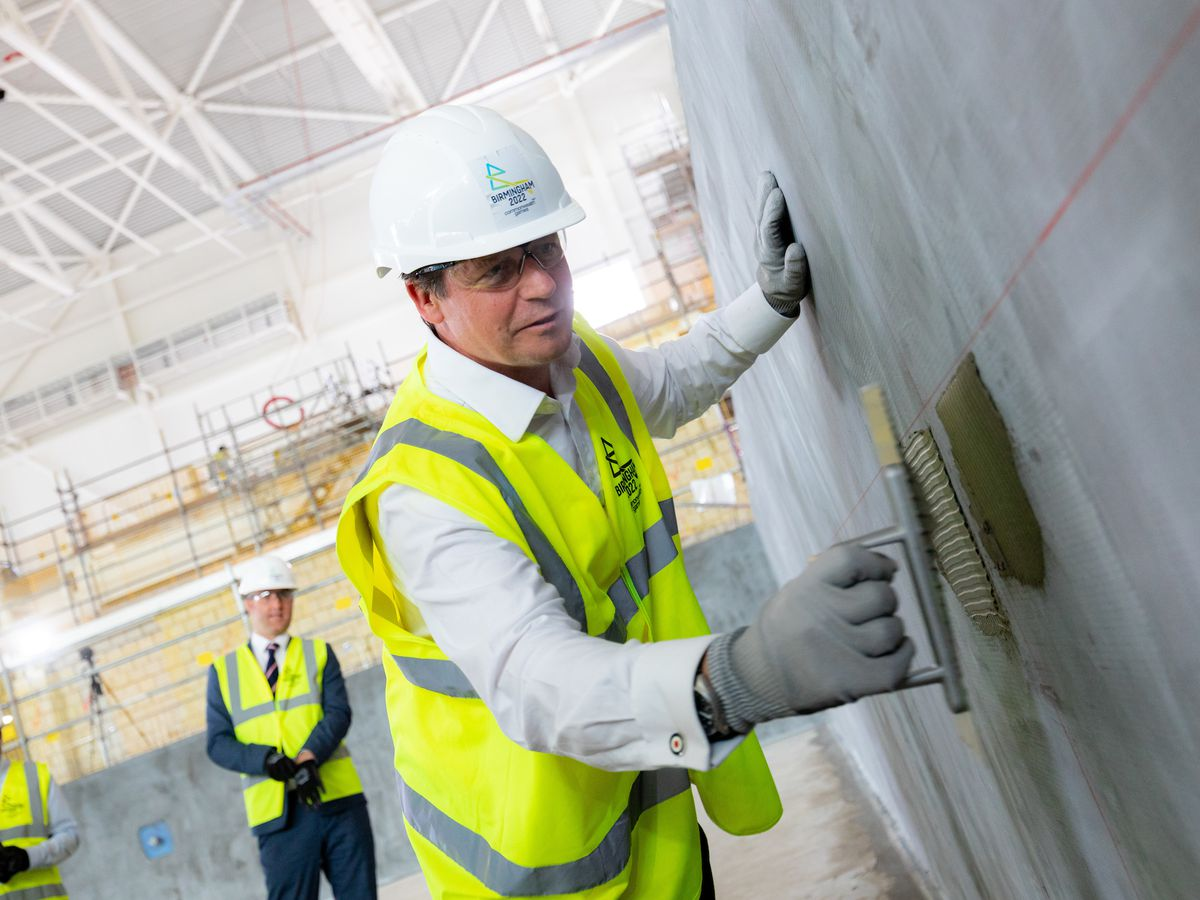 Work is going smoothly on the interior of Sandwell Aquatics Centre ahead of the Games