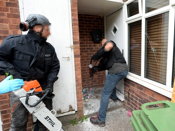 Arrests made as drugs and weapons seized during police raids