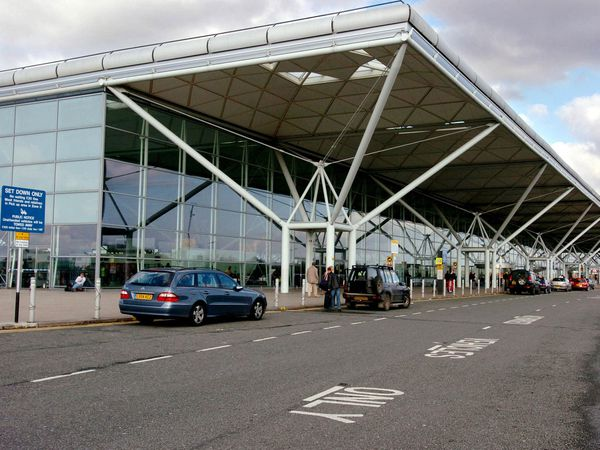 The main departures and arrivals building at Stansted Airport (Chris Radburn/AP)