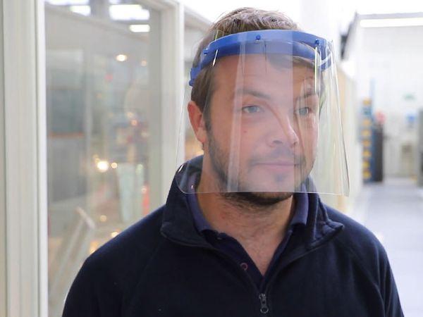 Brandauer engineer Alex Walton has worked on the manKIND visor