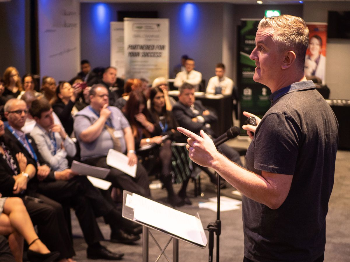 Chris Green speaks to local businesses about the value of digital marketing.