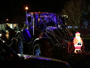 An entrant in the Christmas Tractor Run in 2019.