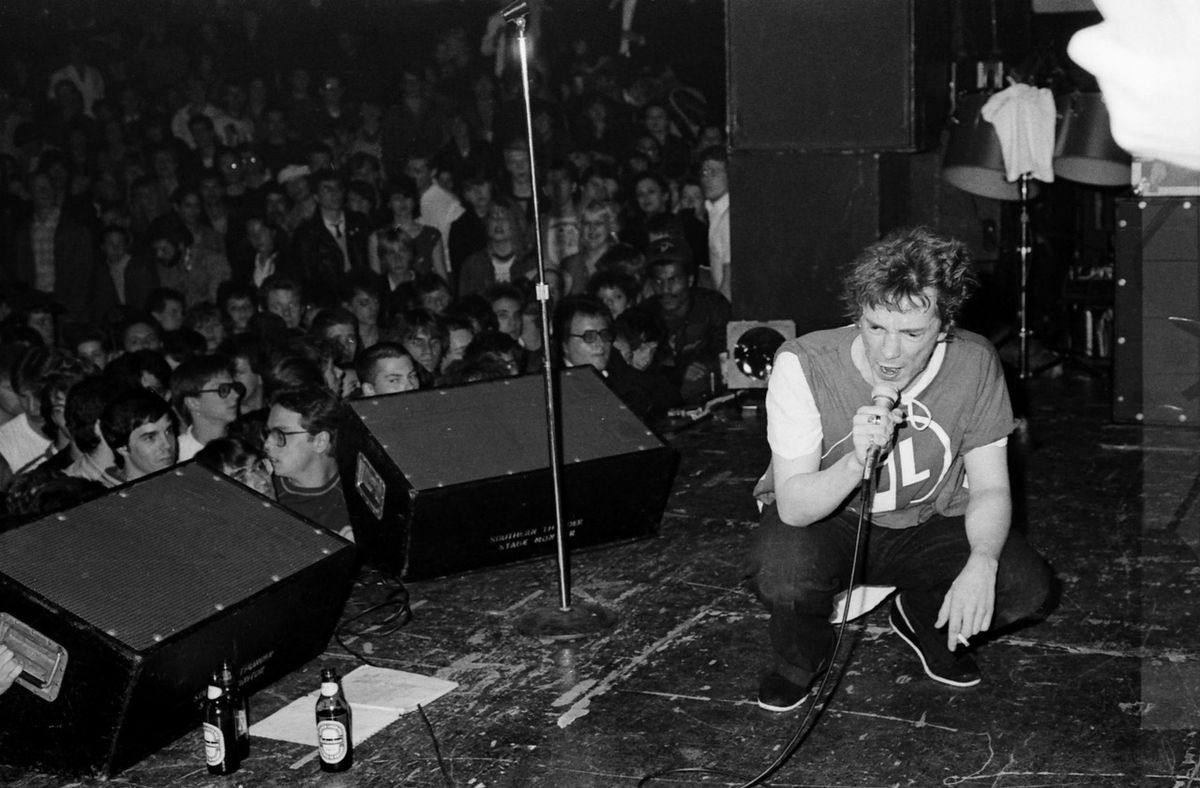 Johnny Rotten, fronting the Sex Pistols