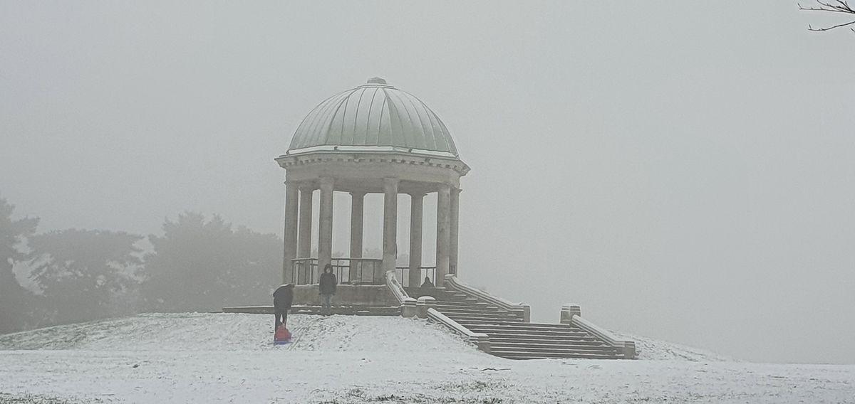 Snow at Barr Beacon. Photo: Neeba Azeez