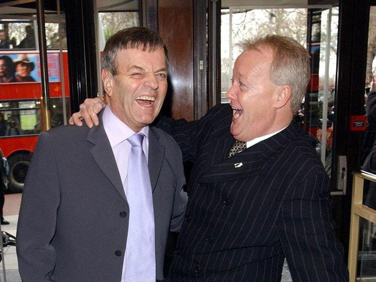 Tony Blackburn and Keith Chegwin (Ian West/PA)