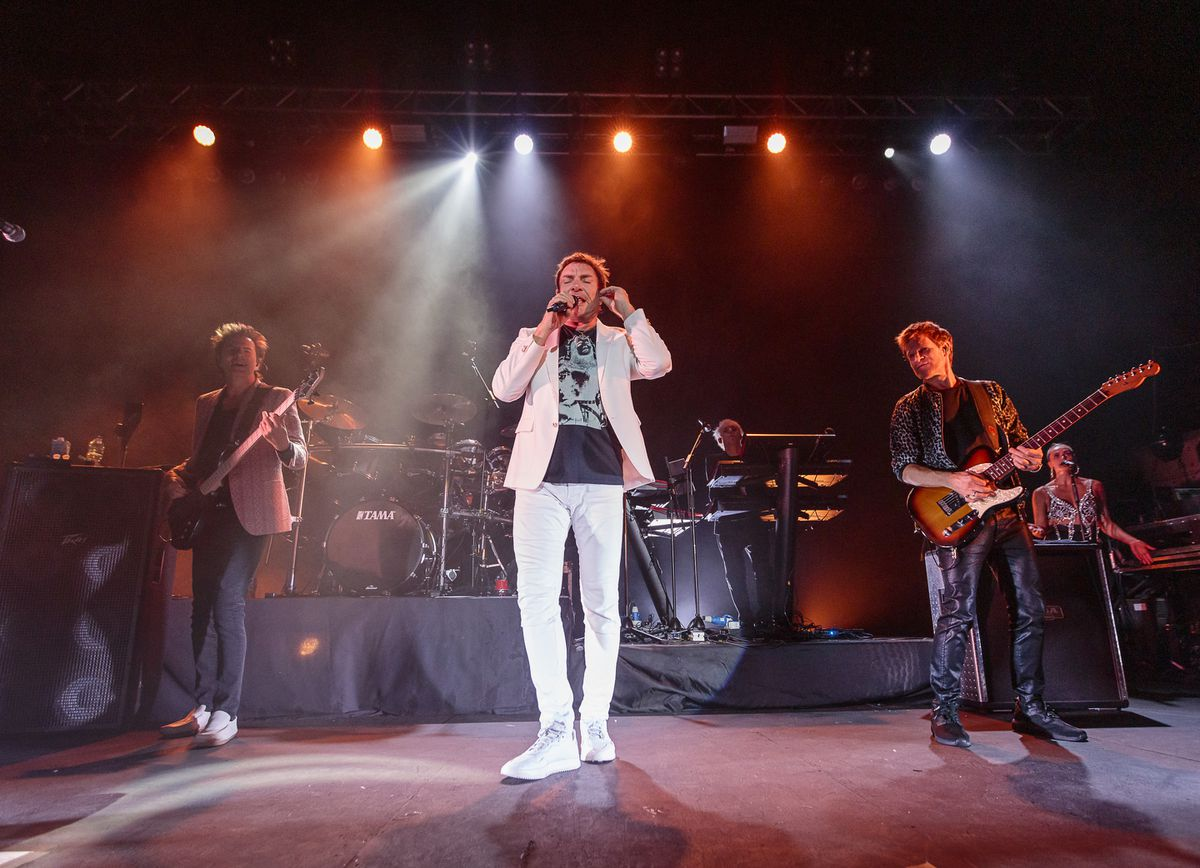 Duran Duran – John Taylor, Simon Le Bon and Dominic Brown.