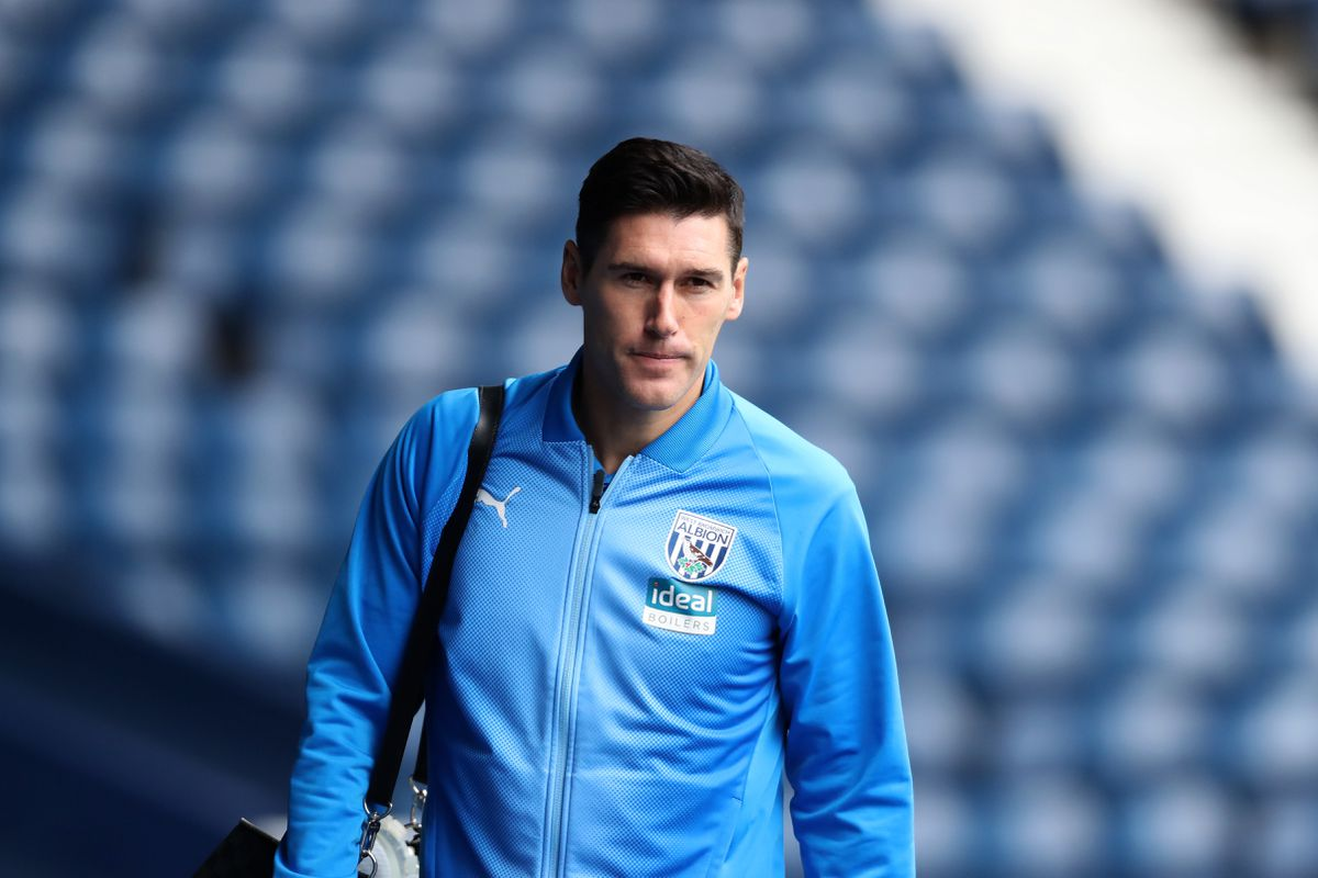 Gareth Barry of West Bromwich Albion arrives at the stadium.