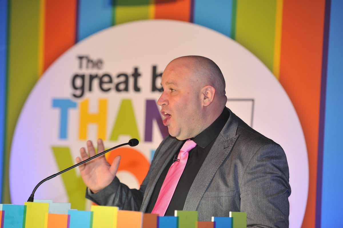 Signal 107's Dicky Dodd acted as compere for the Great Big Thank You Awards evening