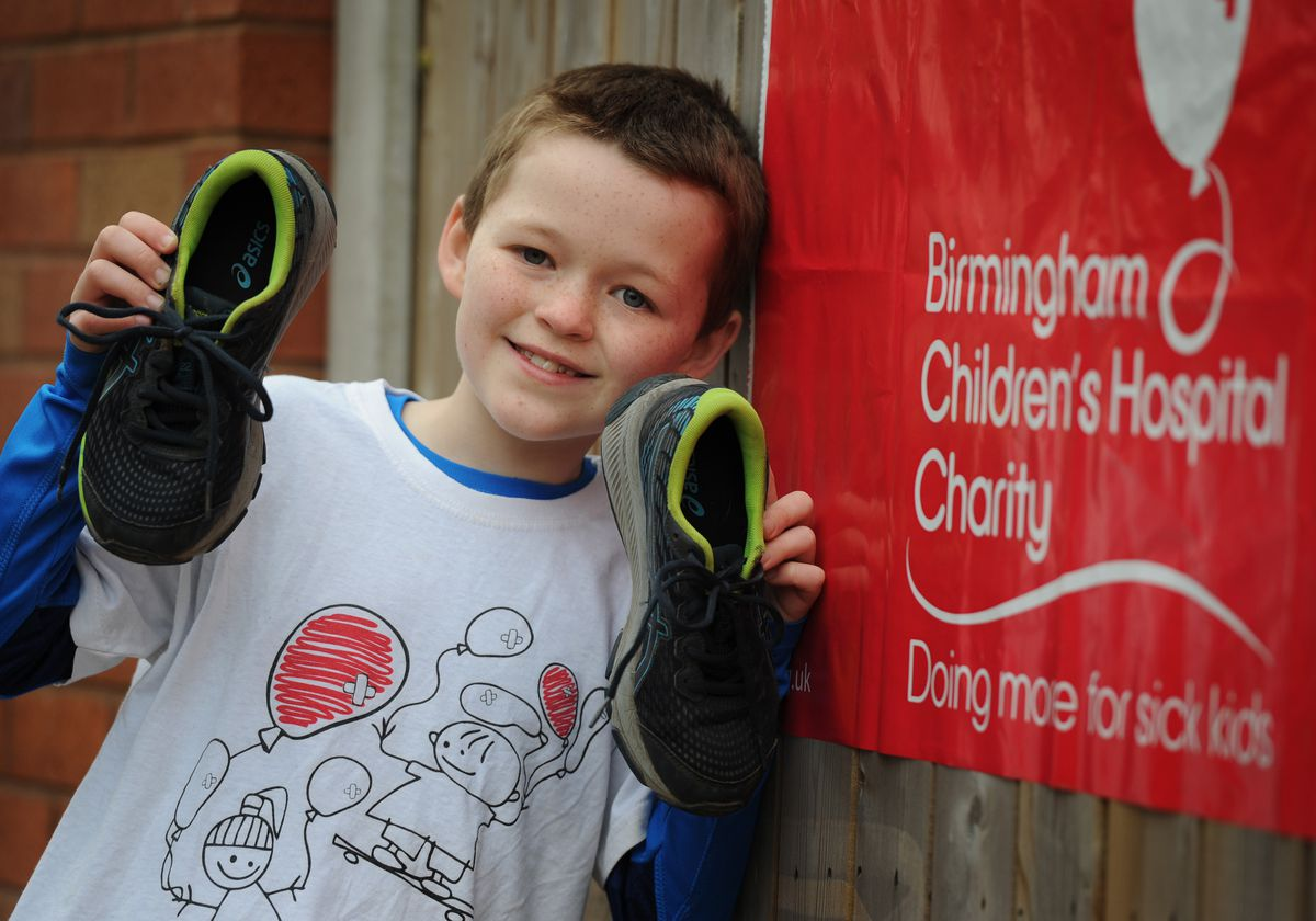 Carter Chatting raised £6,000 for Birmingham Children's Hospital, by completing a 10k run in March