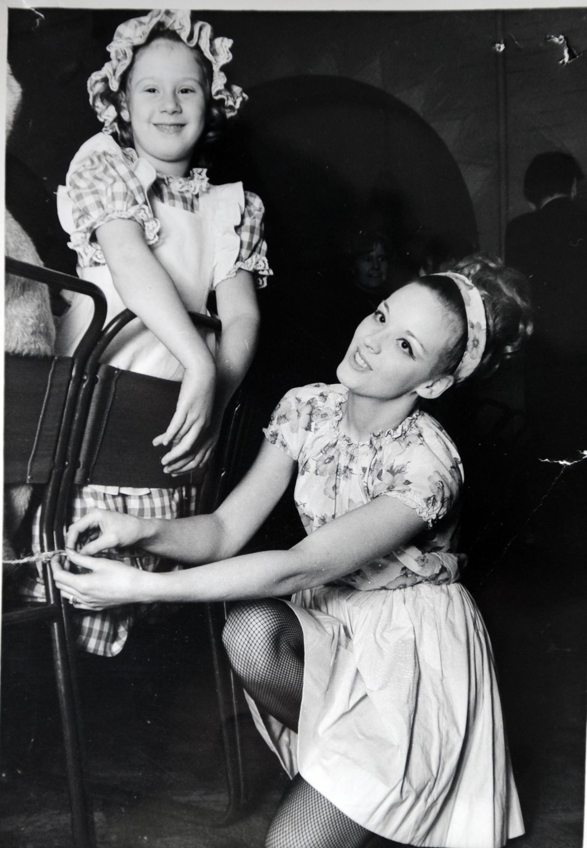 Denise in 1973 with a pupil during her first show