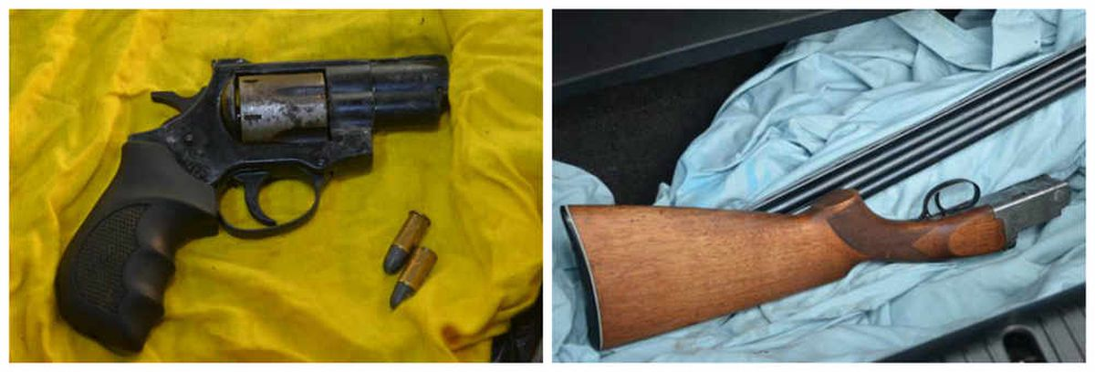 These guns and ammunition were seized in Nottingham