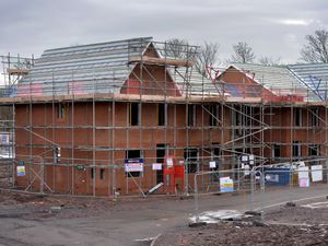 The new housing development on the Hawks Green depot site, Cannock